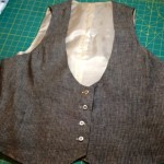 Sewing Linen Vest