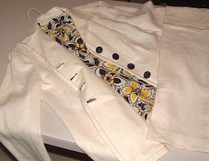 Off White Linen Suit