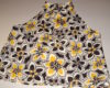 Yellow Black Floral Linen Top